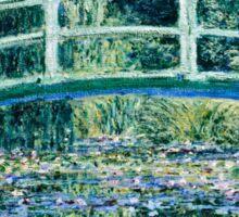 Claude Monet - Water Lilies and Japanese Bridge (1899)  Sticker