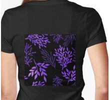 Shimmering purple leaves nature pattern Womens Fitted T-Shirt