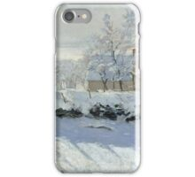 Claude Monet - The Magpie 1869  iPhone Case/Skin