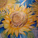 GOLD SUNFLOWER 4  by Gea Austen