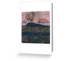 Egon Schiele - Setting Sun (1913)  Greeting Card