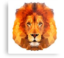 polygon lion face,contemporary art,polygon,polygonal,lion face Metal Print