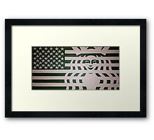 Coffee Americano: The 99 Banners Collection By Wesley Bennett & Four Horses And Six Guns Framed Print
