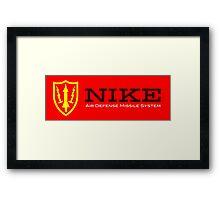 Nike Air Defense Missile System Emblem-Americana Framed Print