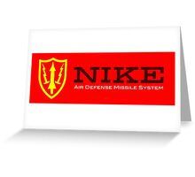 Nike Air Defense Missile System Emblem-Americana Greeting Card