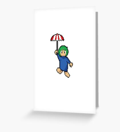 Lemming floating Greeting Card