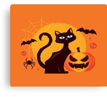 High Quality Halloween Cat Tapestry and Candy Bag  Canvas Print