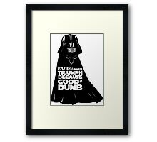 Dark Helmet - Fan art Framed Print