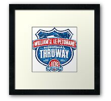 William J. LePetomane Memorial Thruway Framed Print