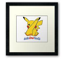Pikachu Gotta Dab Em All! Framed Print