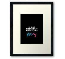 Strong - One Direction Framed Print