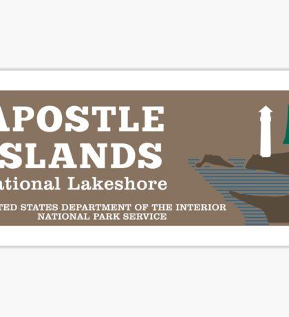 Apostle Islands National Lakeshore sign Sticker
