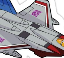 Starscream sticker (check out the Deceptijets pillow) Sticker