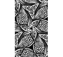 Black and white nested raven pattern Photographic Print