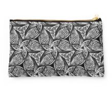 Black and white nested raven pattern Studio Pouch