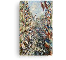 Claude Monet - The Rue Montorgueil in Paris  Celebration of June 30, 1878  Canvas Print