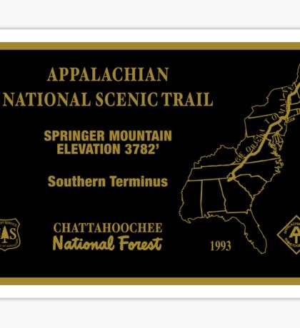 Appalachian National Scenic Trail sign Sticker
