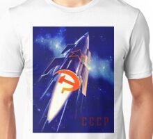 Retro Soviet Space Propoganda Poster - Born To Make Fairytales Come True Unisex T-Shirt