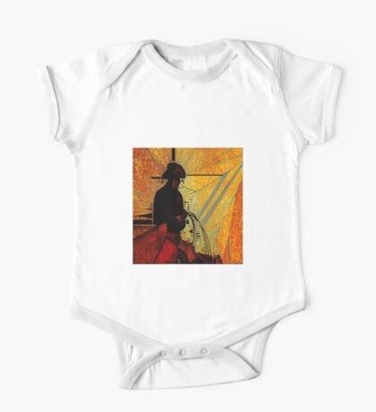 larger stained glass cowboy One Piece - Short Sleeve