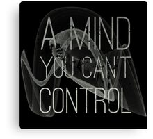 A Mind You Cant Control Grunge Protest Typography Canvas Print