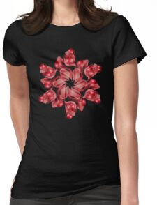 Pomegranate Wreath Womens Fitted T-Shirt