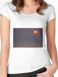 Red Sunset Women's Fitted Scoop T-Shirt