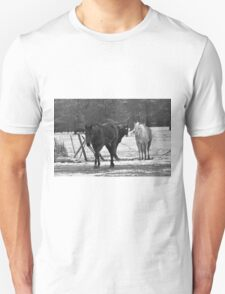 Winter Horses Unisex T-Shirt