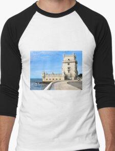 TORRE de BELEM- LISBON, PORTUGAL Men's Baseball ¾ T-Shirt