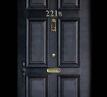 Black Door with 221b number by Arief Rahman Hakeem