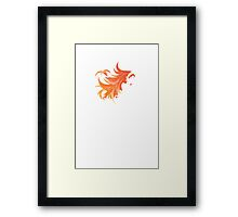 Flaming Hair Framed Print