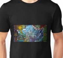 Stained glass Hogwarts Unisex T-Shirt