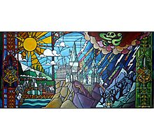Stained glass Hogwarts Photographic Print