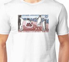 1963 FSAT Adelie Penguins Postage Stamp Unisex T-Shirt