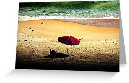 Red Umbrella by Terri~Lynn Bealle