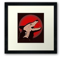 Blood Moon Werewolf Framed Print