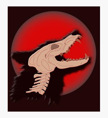 Blood Moon Werewolf Photographic Print