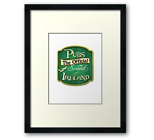 Pubs - the official sunblock of Ireland Framed Print