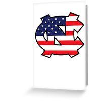 Go Heels, Go America Greeting Card
