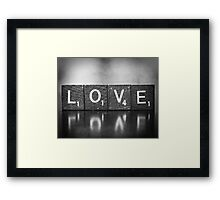 Love Is A Beautiful Word Framed Print