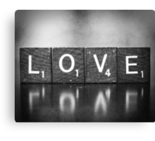Love Is A Beautiful Word Canvas Print