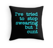 Quote Blue LOL Throw Pillow