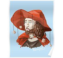 Rincewind portrait  Poster