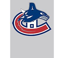 Vancouver Canucks - Montreal Canadiens Logomash Photographic Print