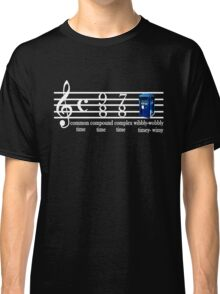 dr.who music notation time Classic T-Shirt