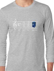 dr.who music notation time Long Sleeve T-Shirt