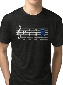 dr.who music notation time Tri-blend T-Shirt