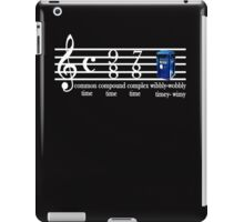 dr.who music notation time iPad Case/Skin