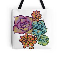 Colorful Cartoon Succulents Tote Bag