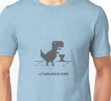 Drum Up Big T-Rex _Grey Unisex T-Shirt