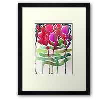 Red Roses Watercolor Framed Print